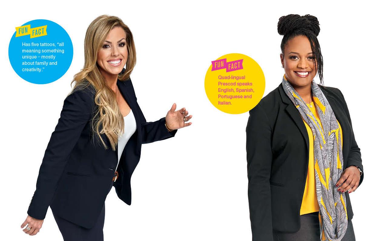 The PR Queen: Veronique James(left) & The Wealth Builder: Angelica Prescod(right)