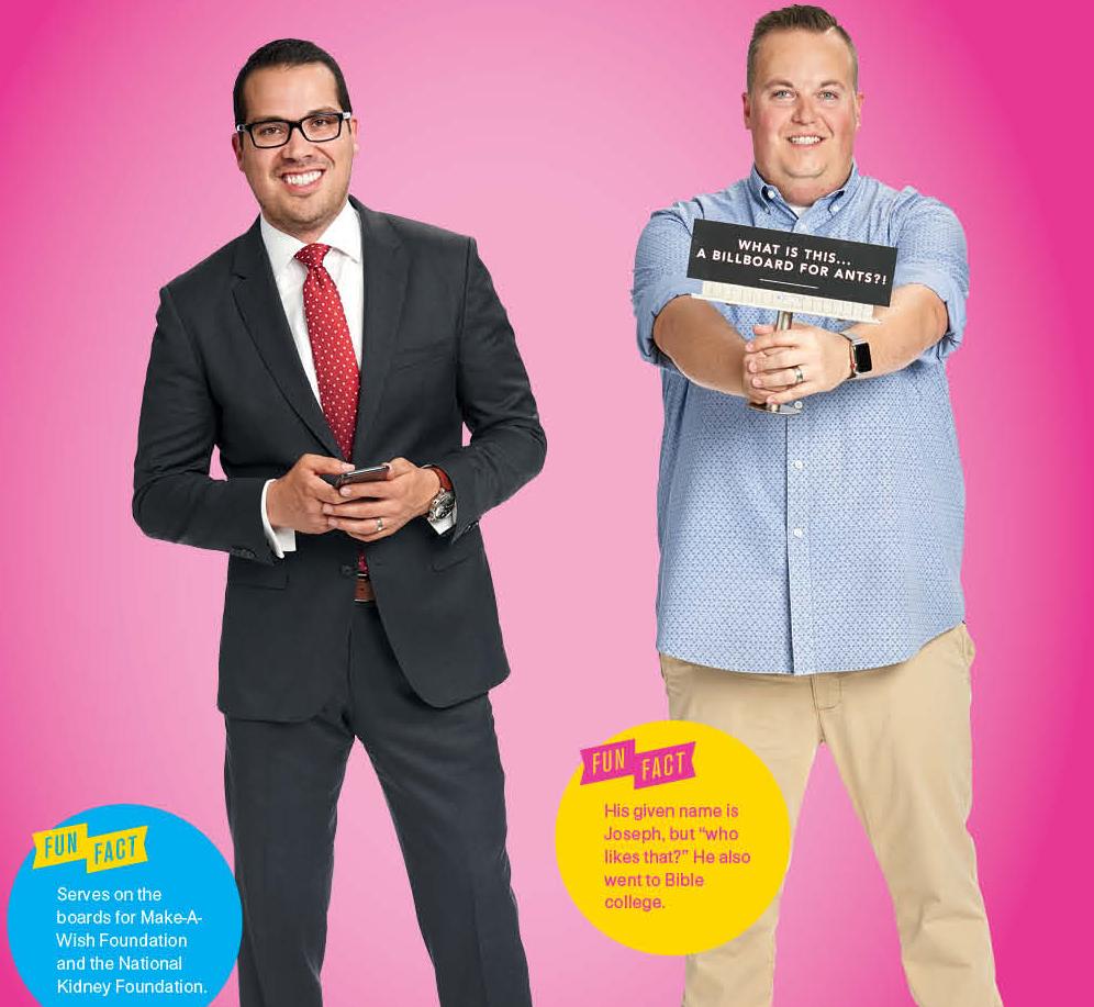 The Barrister: James Goodnow(left) & The Marketing Guru: Joey Hall(right)
