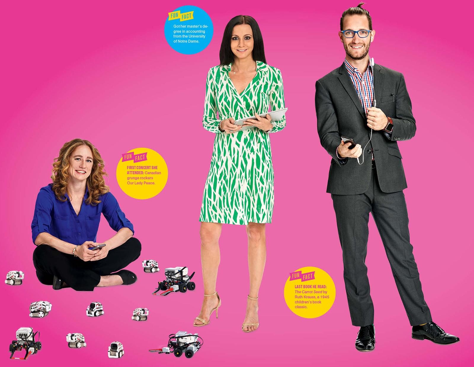 The Techies: Erin Walker, Megan Amdahl, Thomas Kaufmann