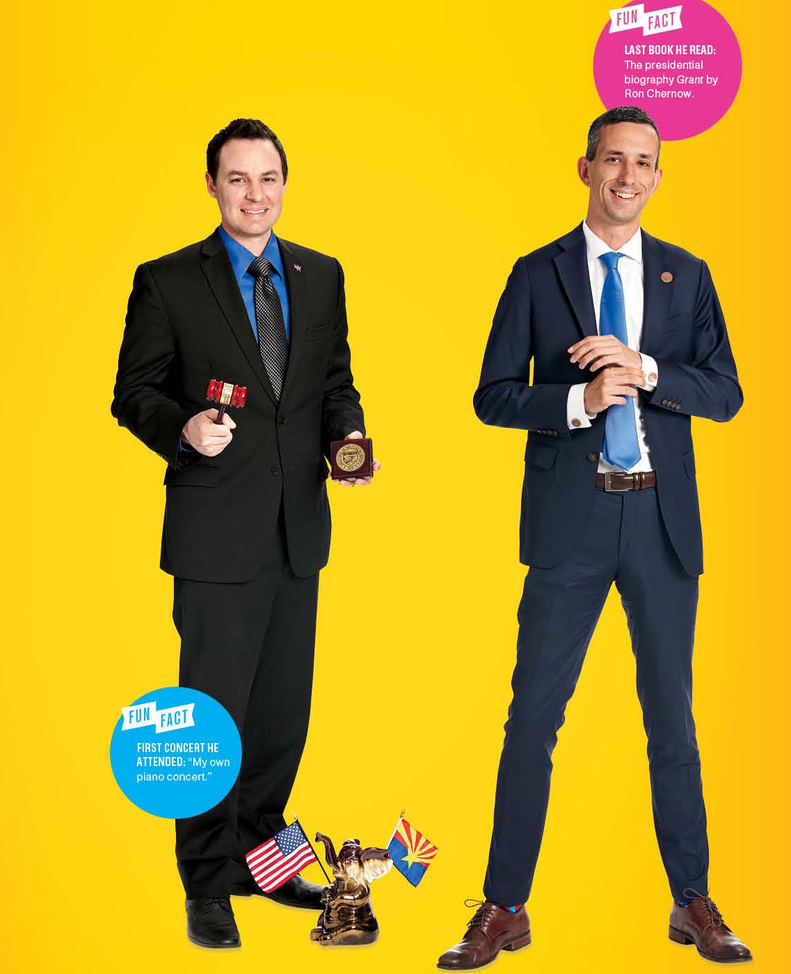 The Politicians: J.D. Mesnard(left), Sean Bowie(right)