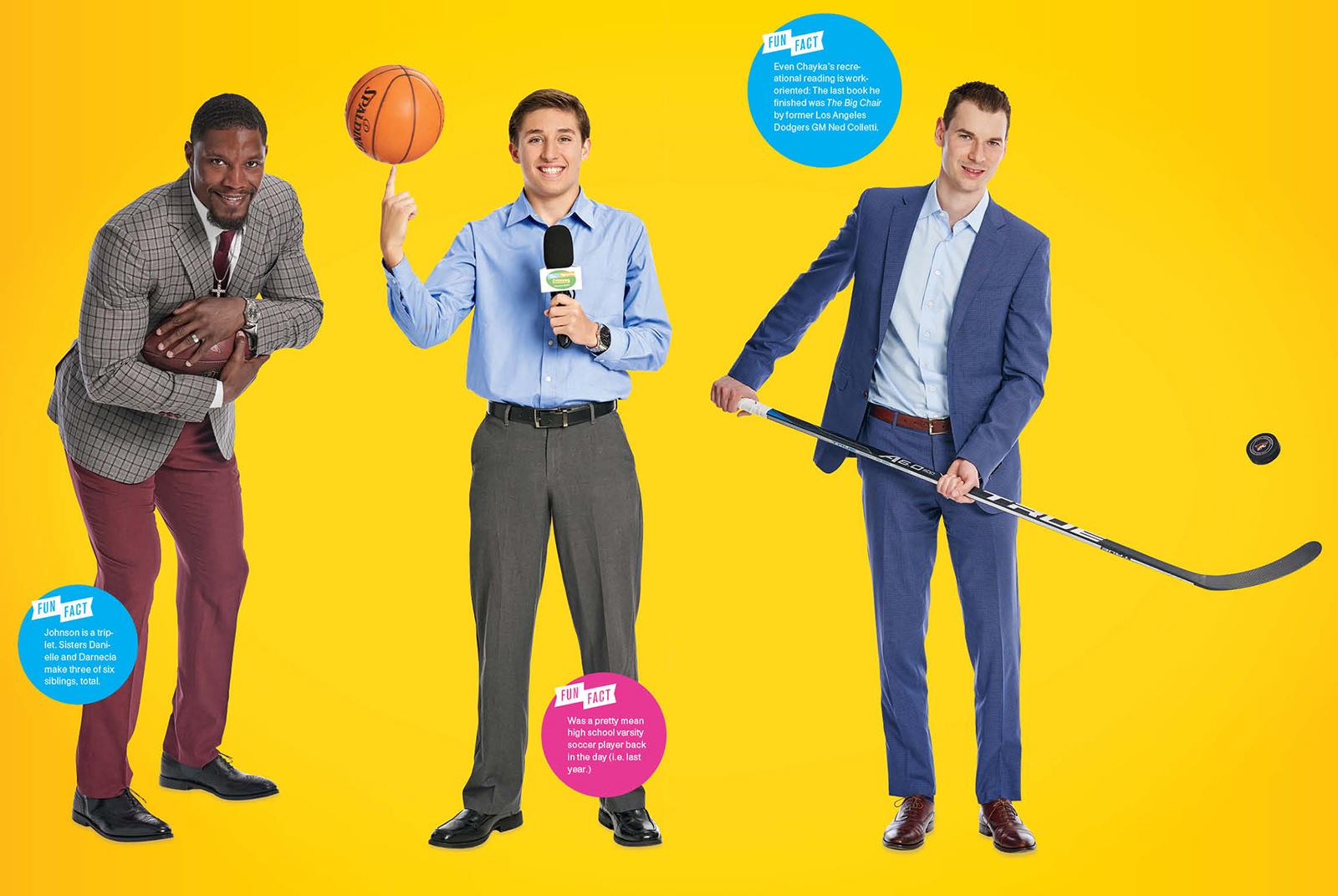 The Sports Stars: David Johnson, Mason Kern, John Chayka