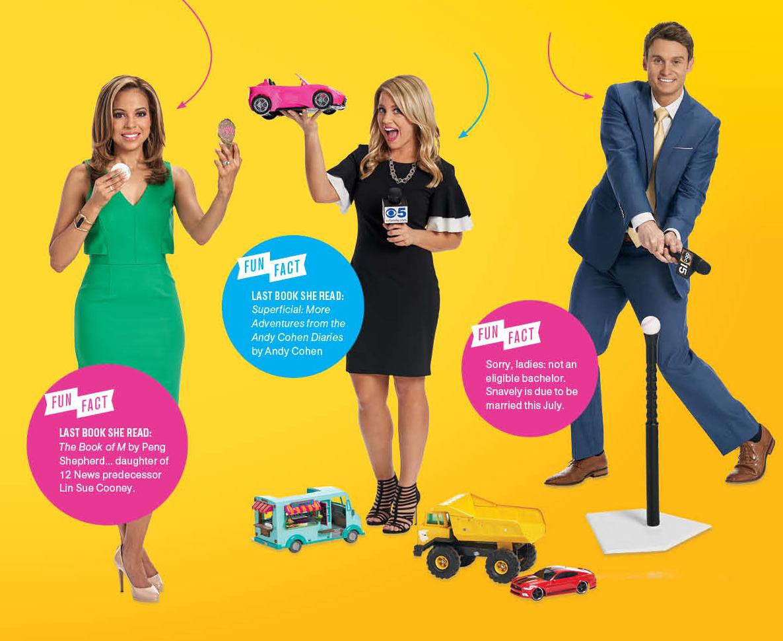 Dream TV News Team: Caribe Devine, Kylee Cruz, Jason Snavely