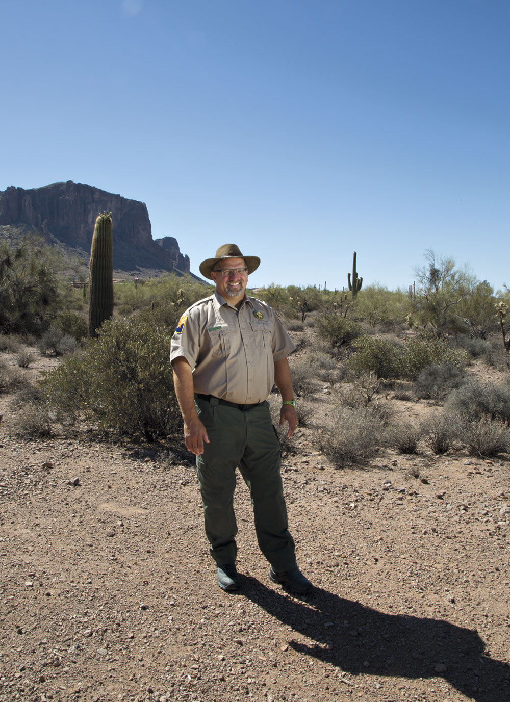 Arizona State Parks & Trails ranger Louis Juers at Lost Dutchman State Park. Photo by Mirelle Inglefield