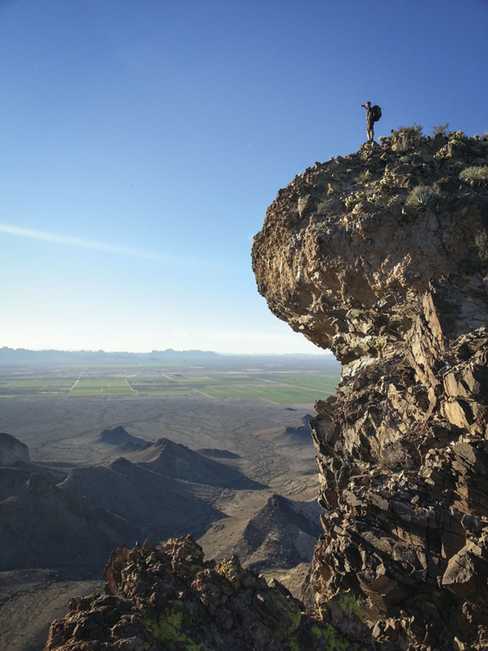 Photo by Michael D'Avy; Halvorsen on Saddle Mountain
