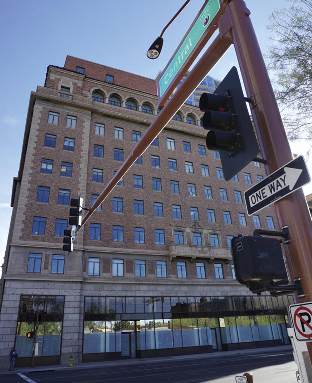 Photos courtesy AZ Collection ASU Libraries; Douglas C. Towne; the Security Building in 2018