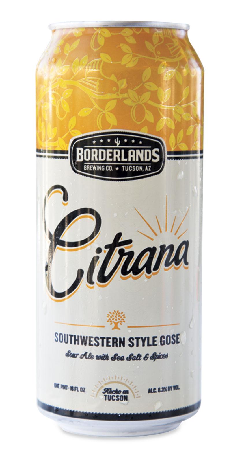 Borderlands Brewing Co. Citrana Wild Ale