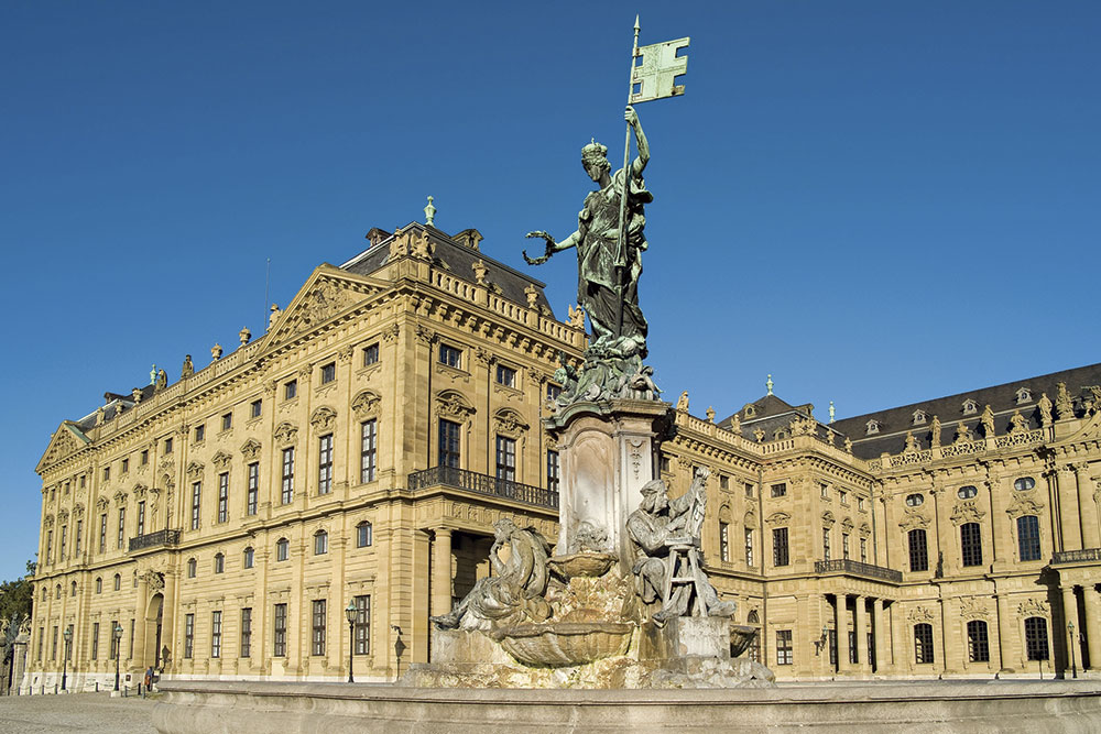 Photo by Craig Outhier; the Versailles-inspired Residence in Würzburg