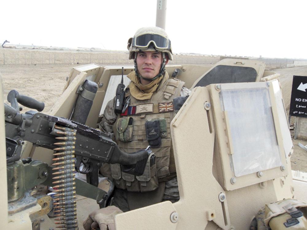 Photos courtesy Kyle Arsenault; Cpl. Arsenault on active duty