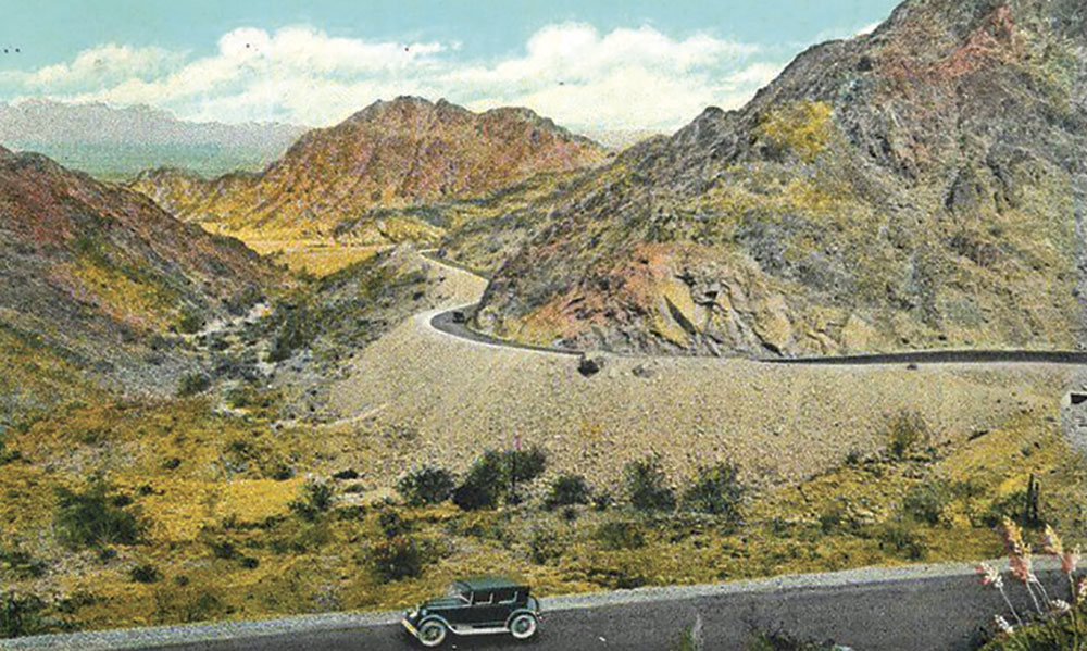 Photo courtesy Douglas C. Towne; Telegraph Pass postcard, circa 1930s