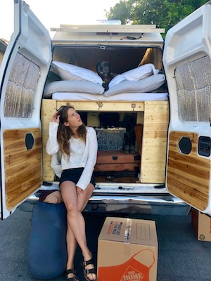 Vanlife Blog Back of van with crew