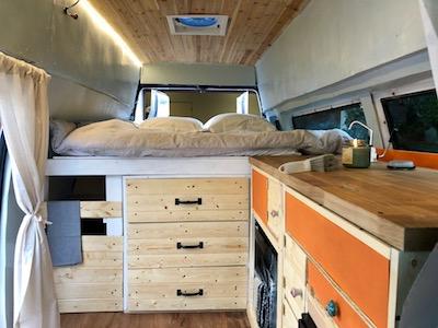 Vanlife Blog Inside Van