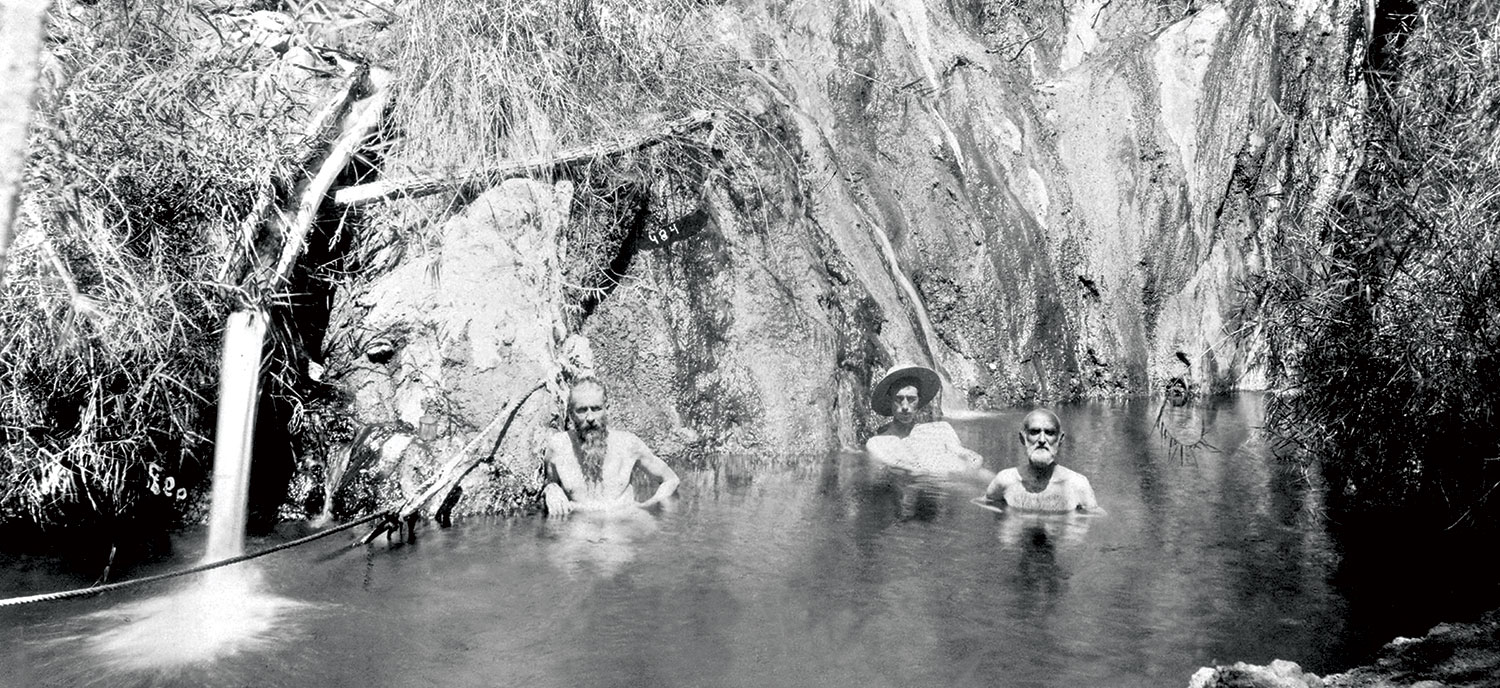 Bathers at the resort in 1896; Photos courtesy Arizona State Archives/Castle Hot Springs