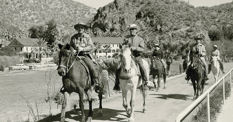 horseback riders circa early 1950s