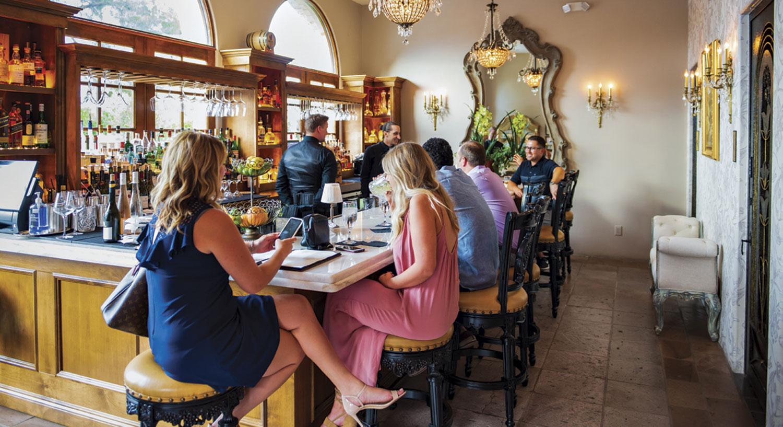 the bar at Café Monarch