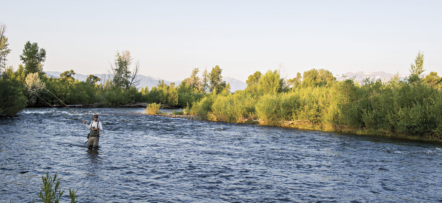 fly-fishing in the Provo River; Photo courtesy Visit Park City