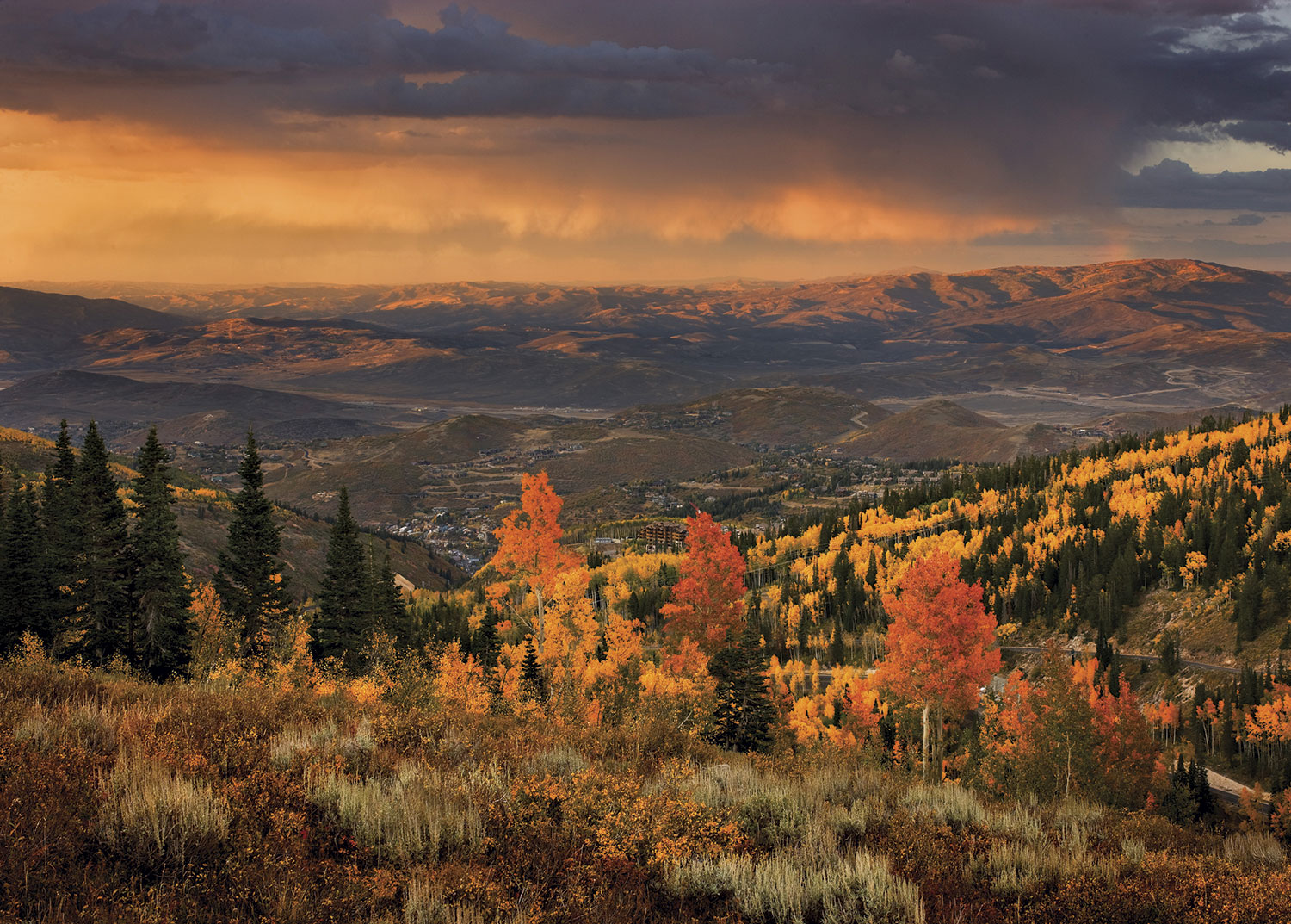 Park City's fall splendor; photo courtesy Montage Deer Valley
