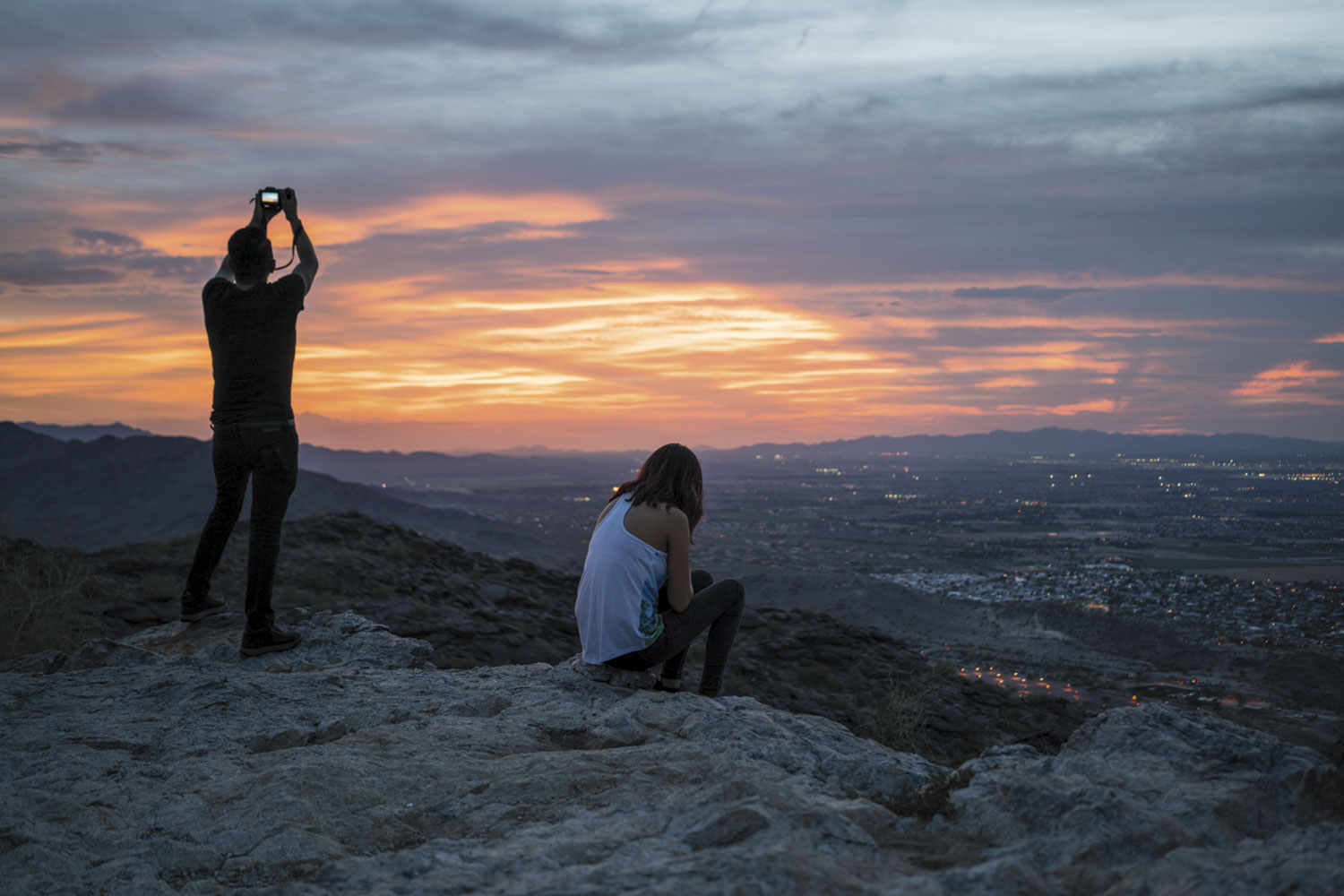 Valley lookout at South Mountain; photo by Carl Schultz