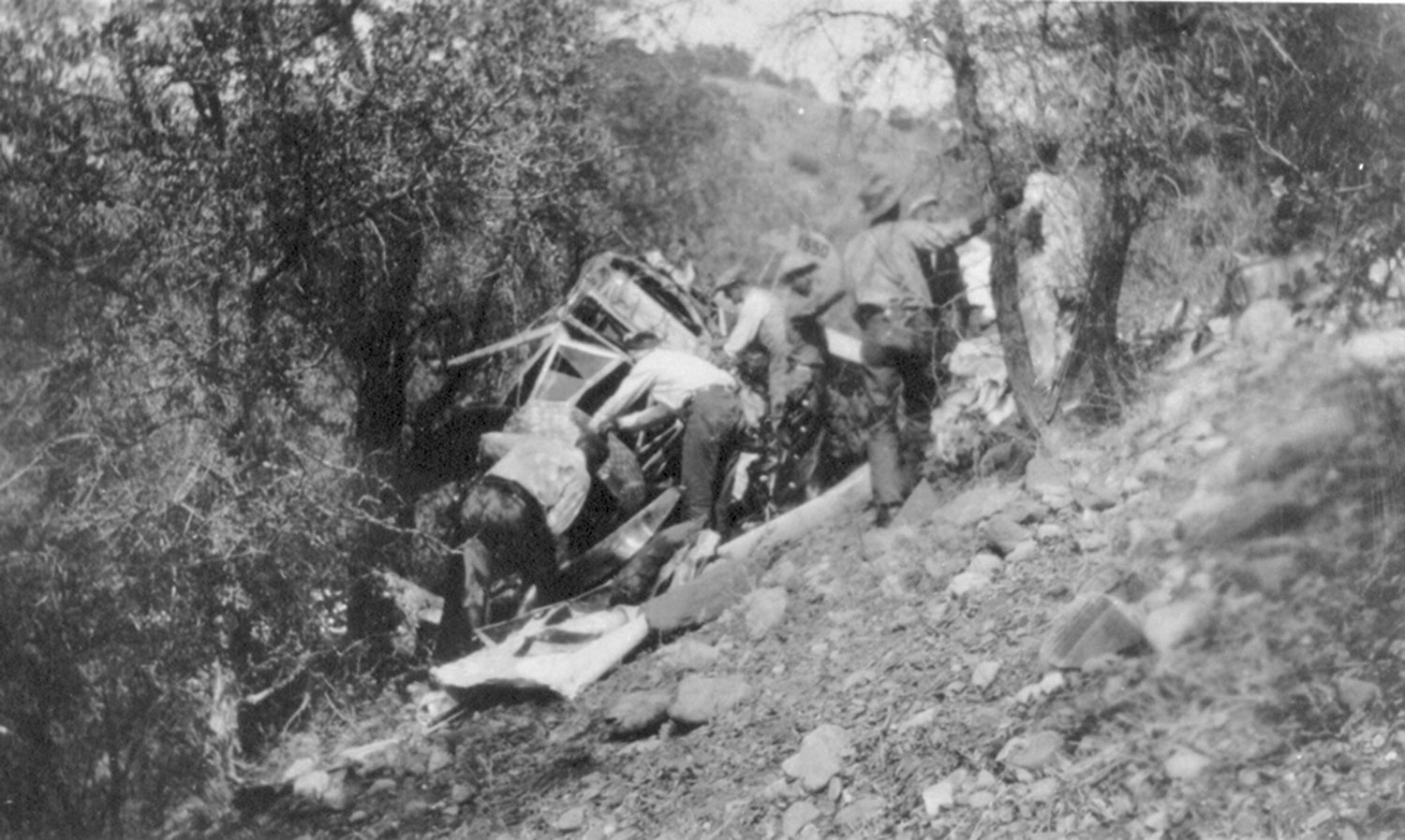 Crash site in Hellsgate Wilderness; Photo courtesy San Diego Air & Space Museum