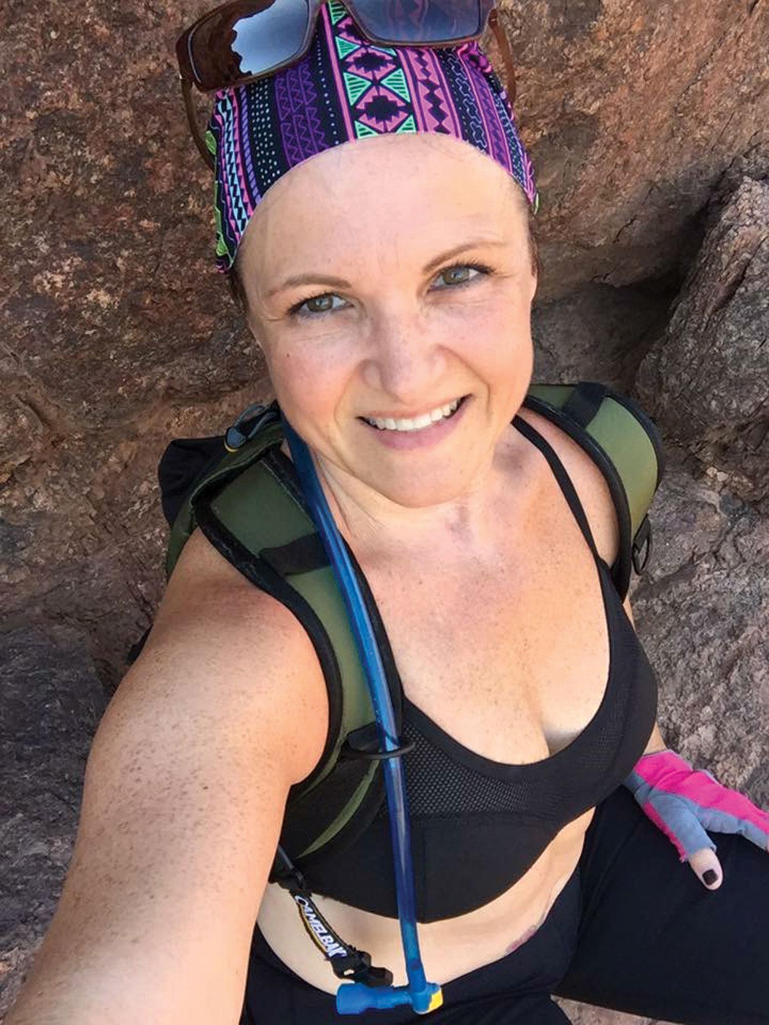 mid-hike selfie