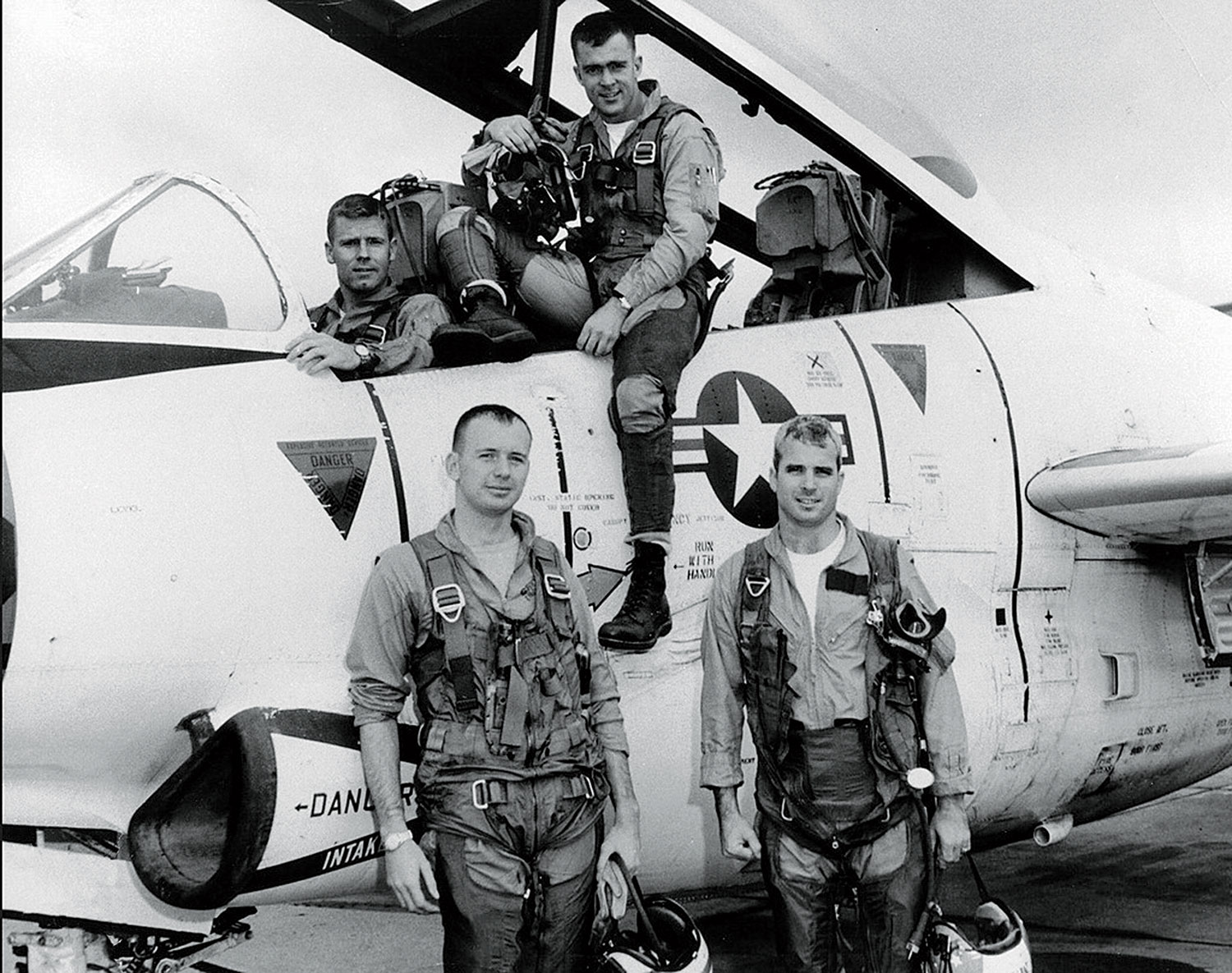 with Navy buddies in 1965