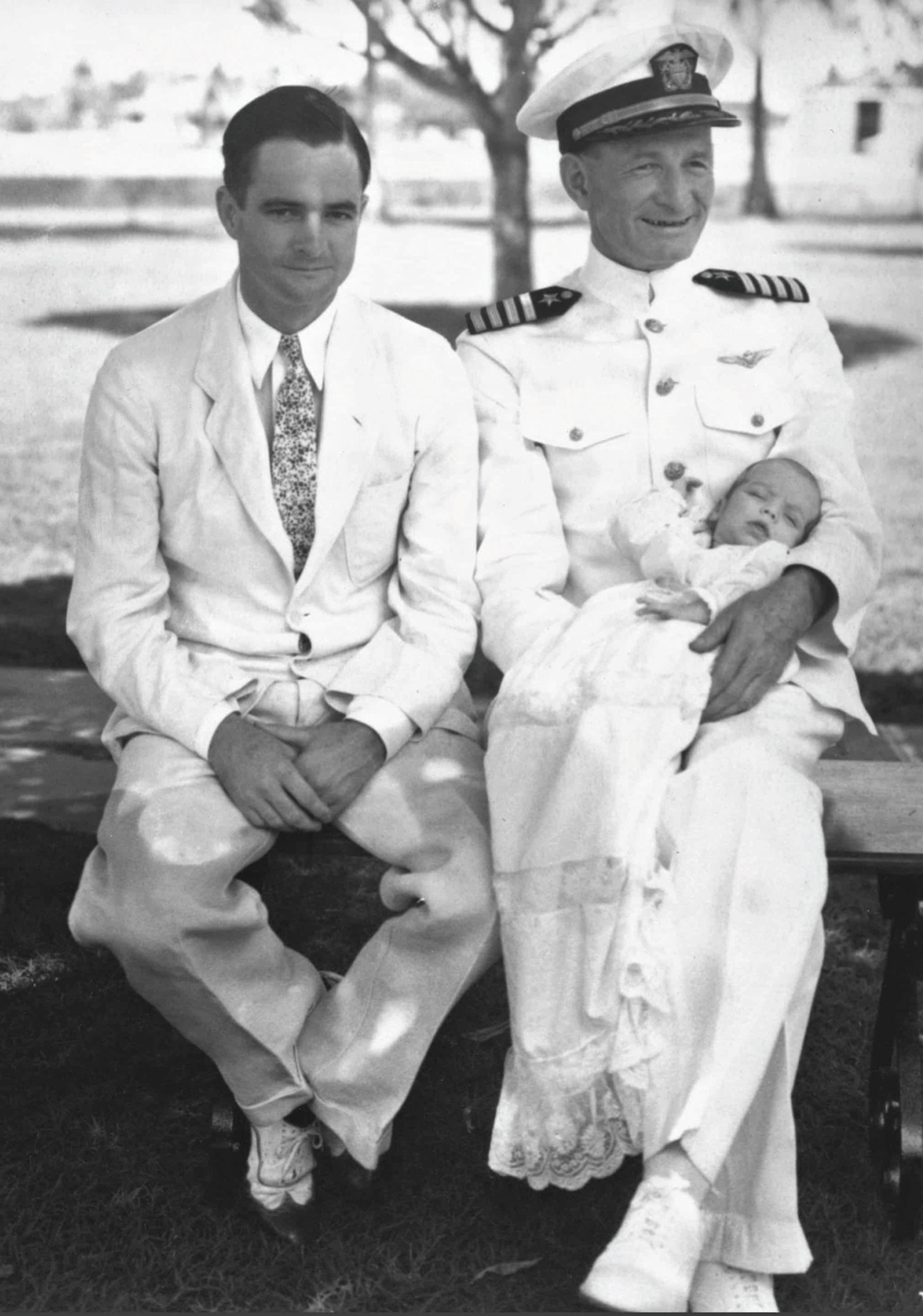 McCain as an infant with grandfather John Sidney McCain Sr. and father John Sidney McCain Jr. in 1936