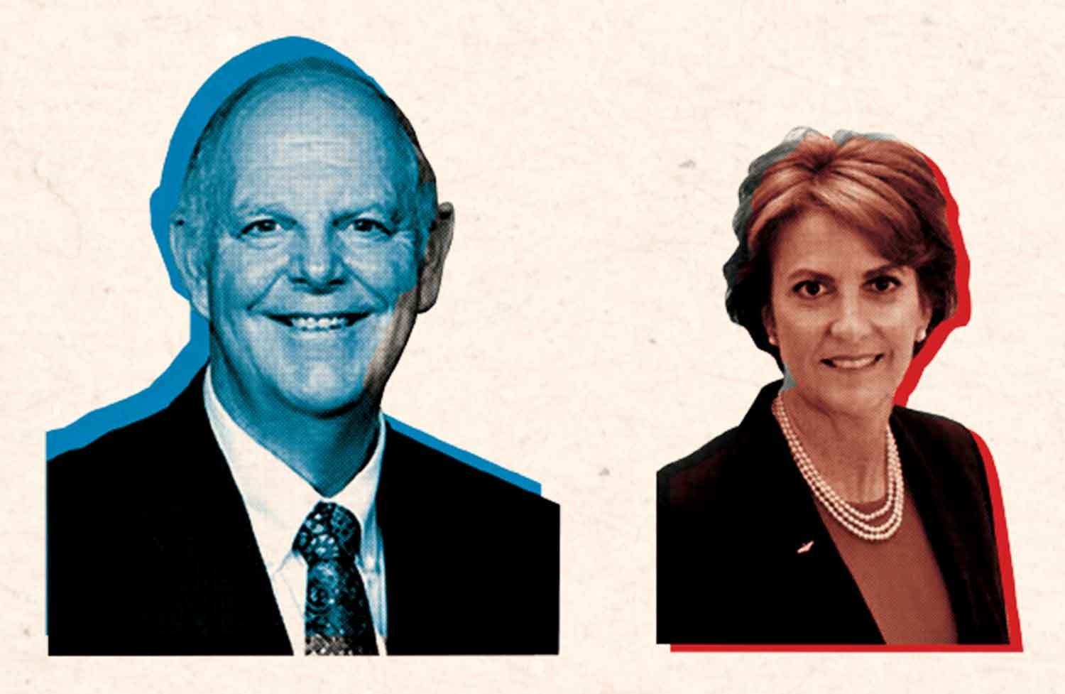 """Incumbent Tom """"Narc!"""" O'Halleran (D) and challenger Wendy """"Poor Man's  Martha"""" Rogers (R)"""