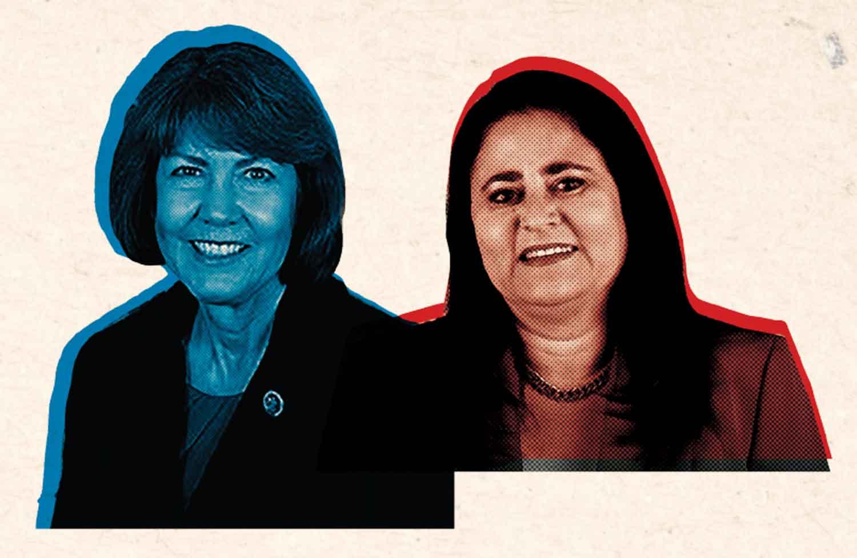 "Ann ""Hobo Annie"" Kirkpatrick (D) and Lea ""Agave Republican"" Márquez Peterson (R)"
