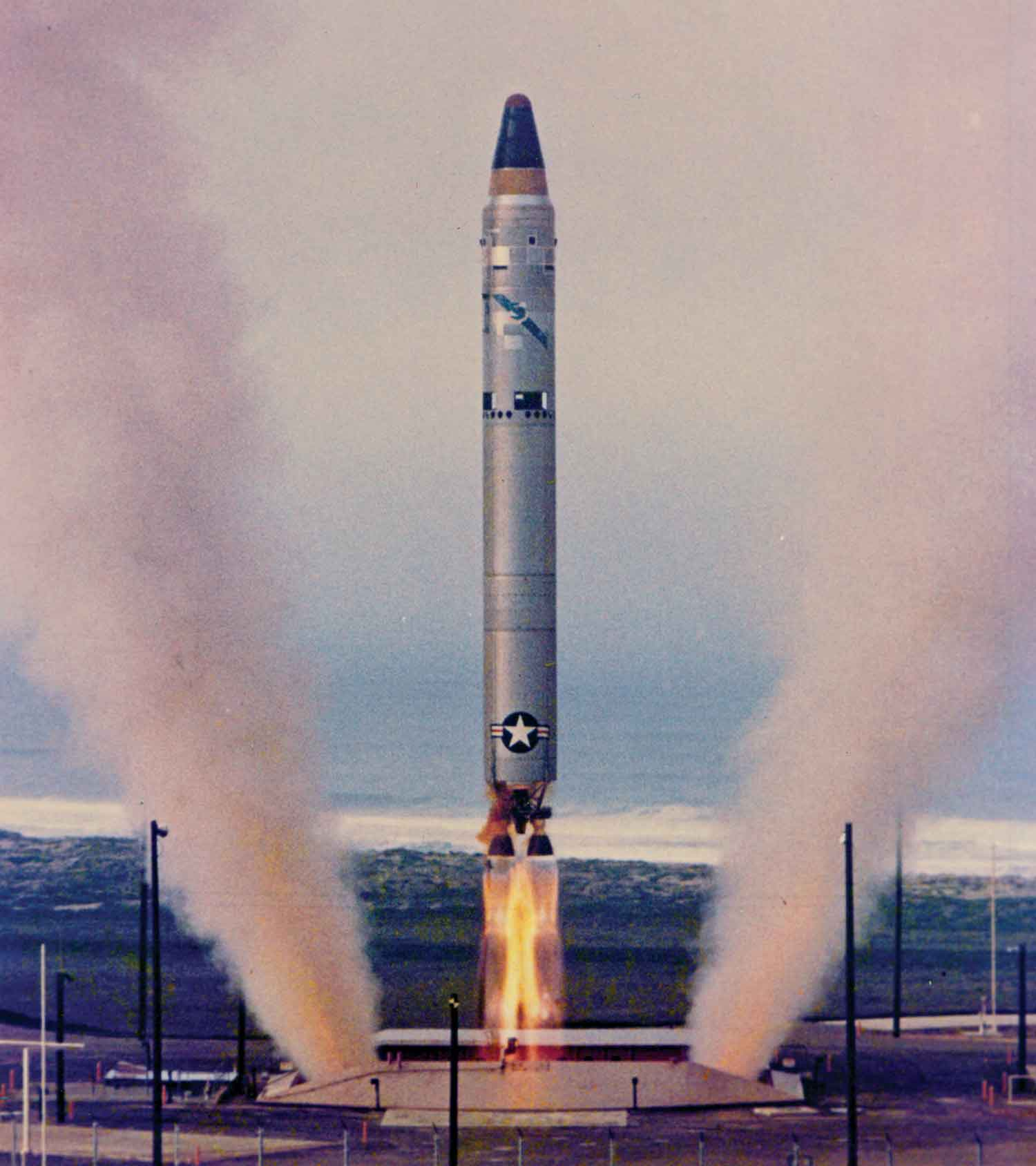 A test launch of a Titan II, 1960s