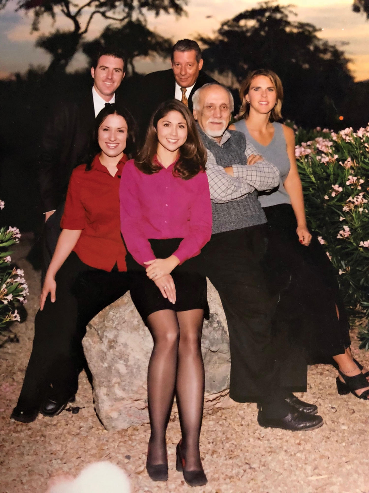 The original Times Media Group team in 1999 (from left): publisher Steve Strickbine, designer Chelsa Linnertz, sales representatives Jennifer Lopez and Dennis Christensen, circulation manager Jim Dowden and editor Suzanne Strickbine; Photo courtesy Steve Strickbine
