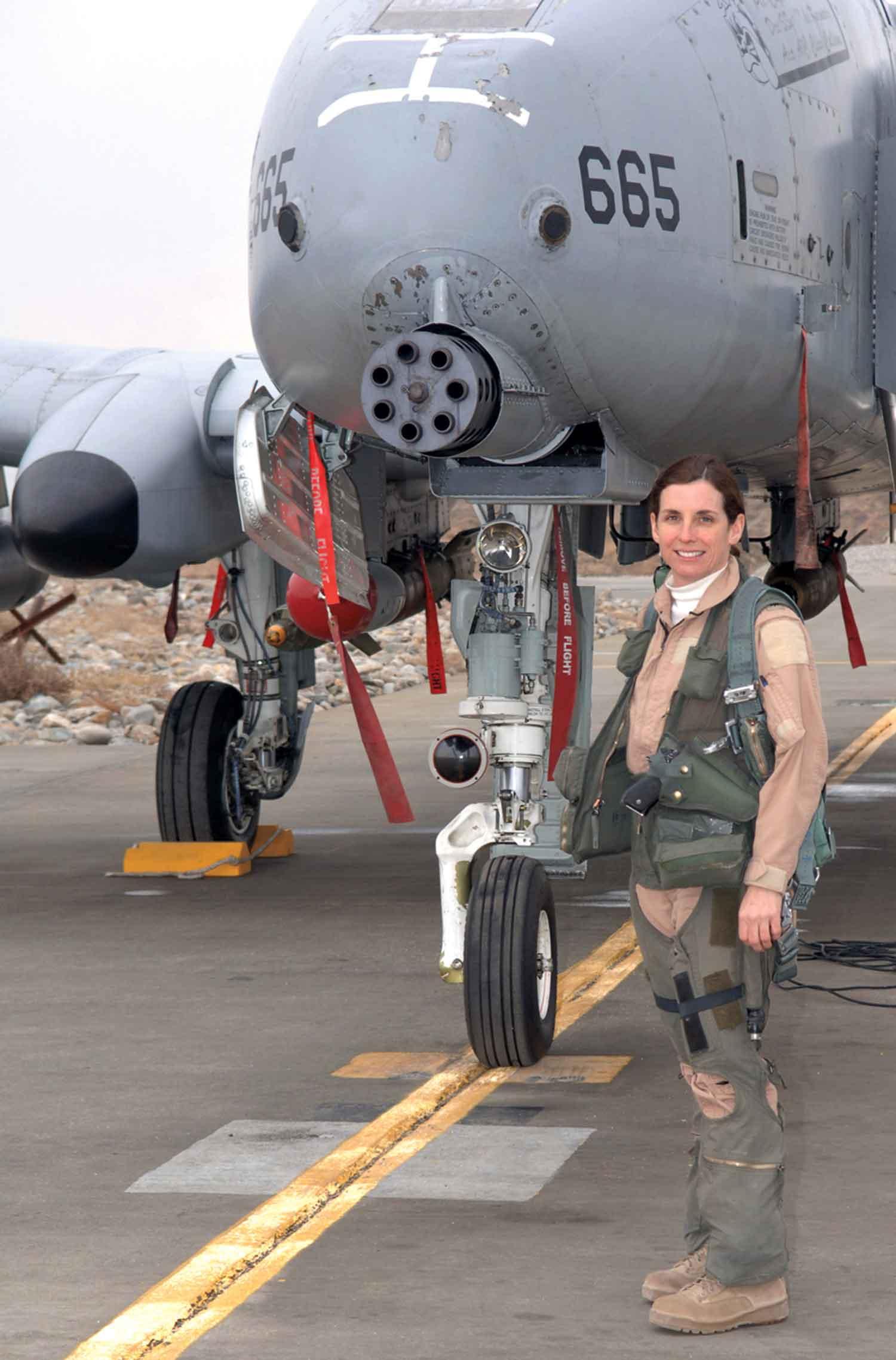 McSally with her A-10 Thunderbolt II aircraft; Photo Courtesy U.S. Air Force