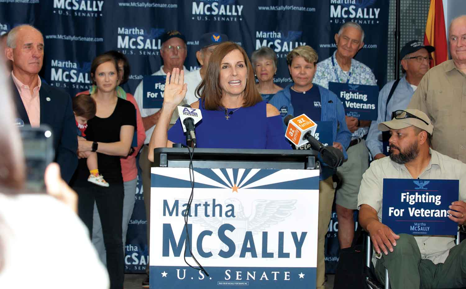 McSally at a Veterans conference in August; Photo by Carrie Evans