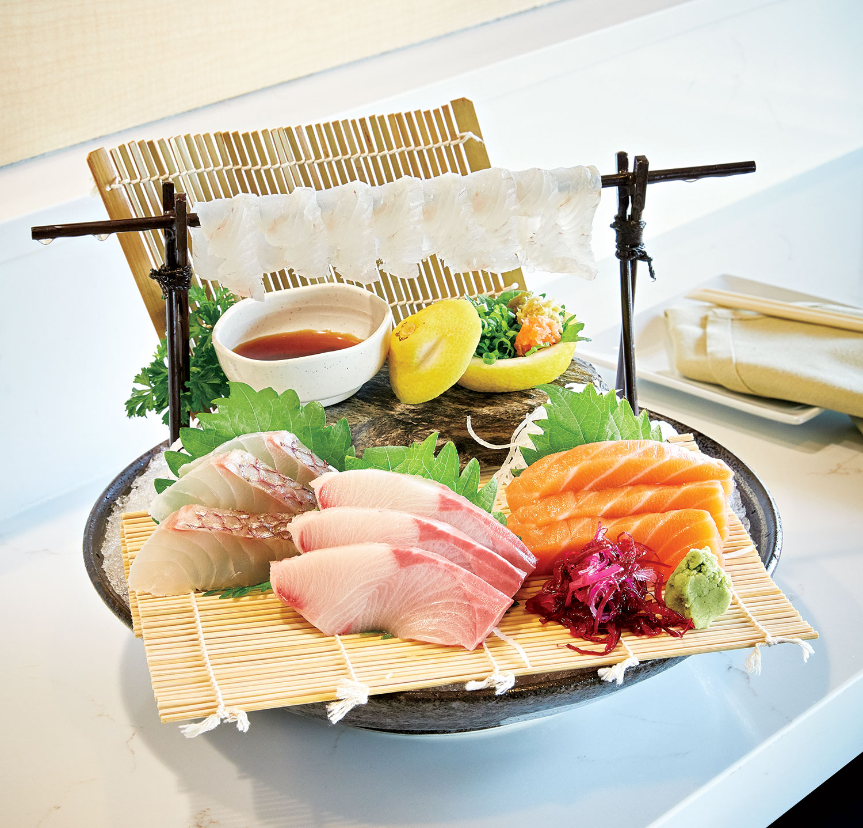 Sashimi platter; Photo by David B. Moore