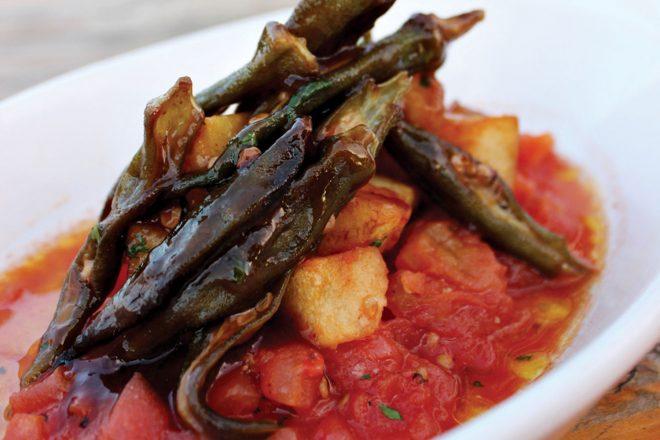 Smoked Tomatoes and Okra