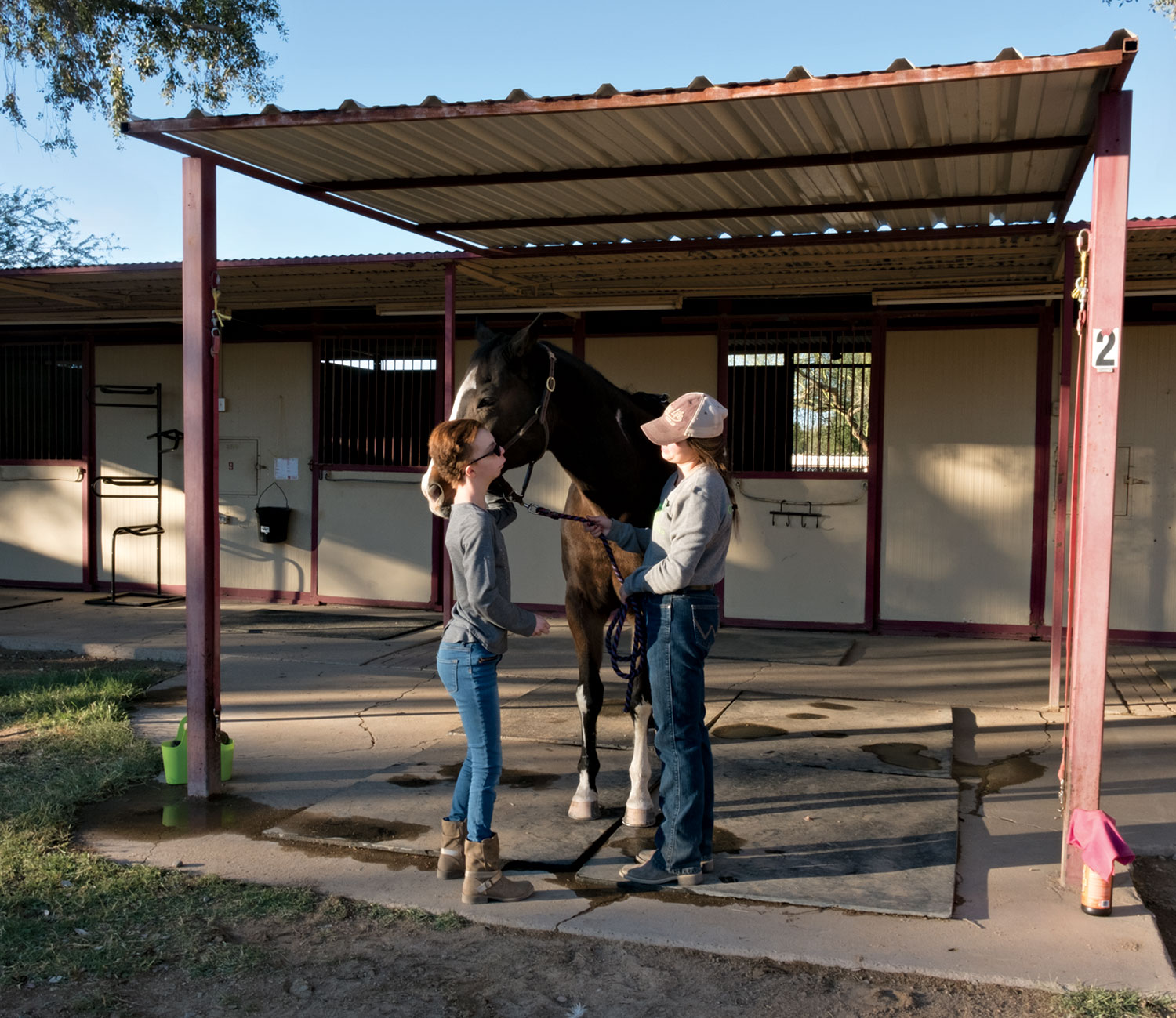 Sophia Landay participates in animal-therapy sessions at Hunkapi in Scottsdale.