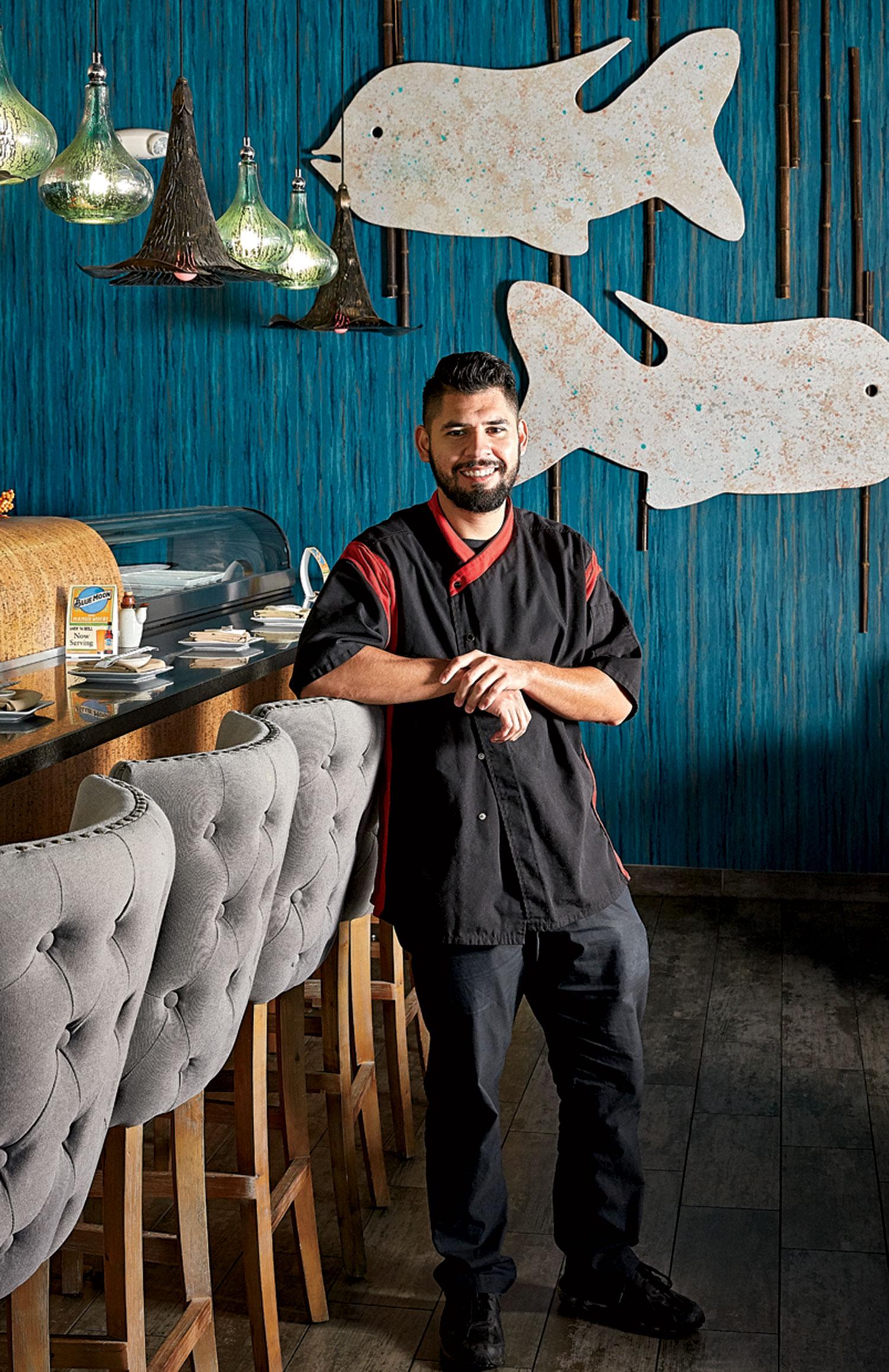 Sushi chef Miguel Martinez