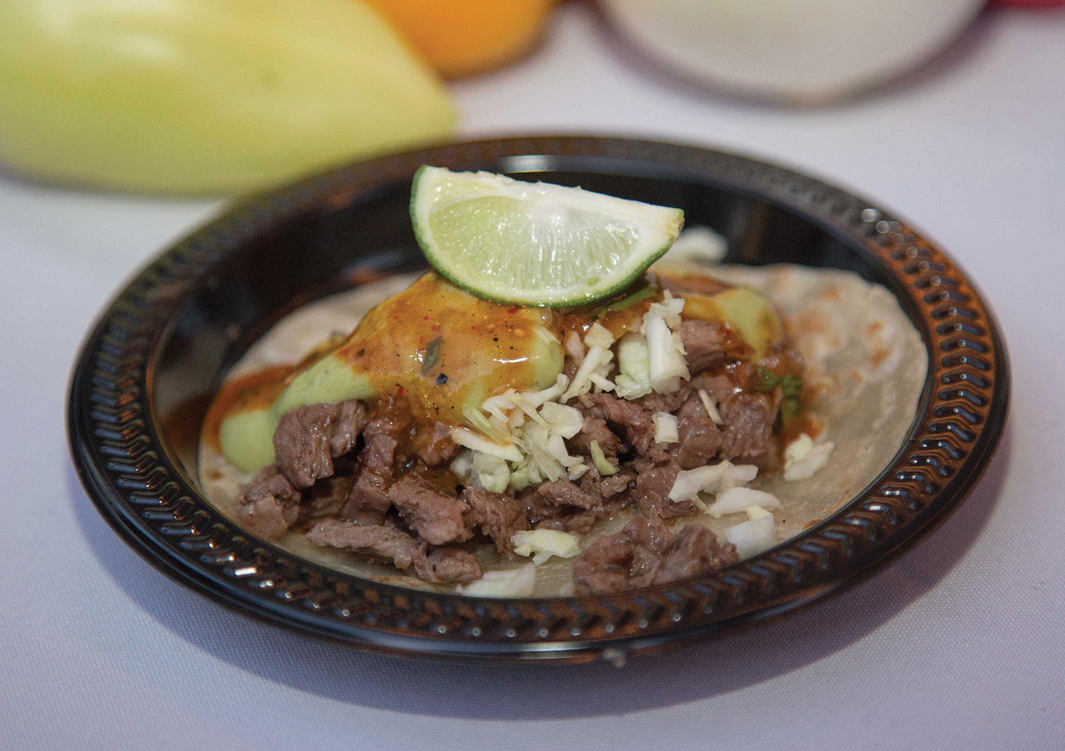 photo by Angelina Aragon; Carne asada taco from Tortas Paquime at Devour the World