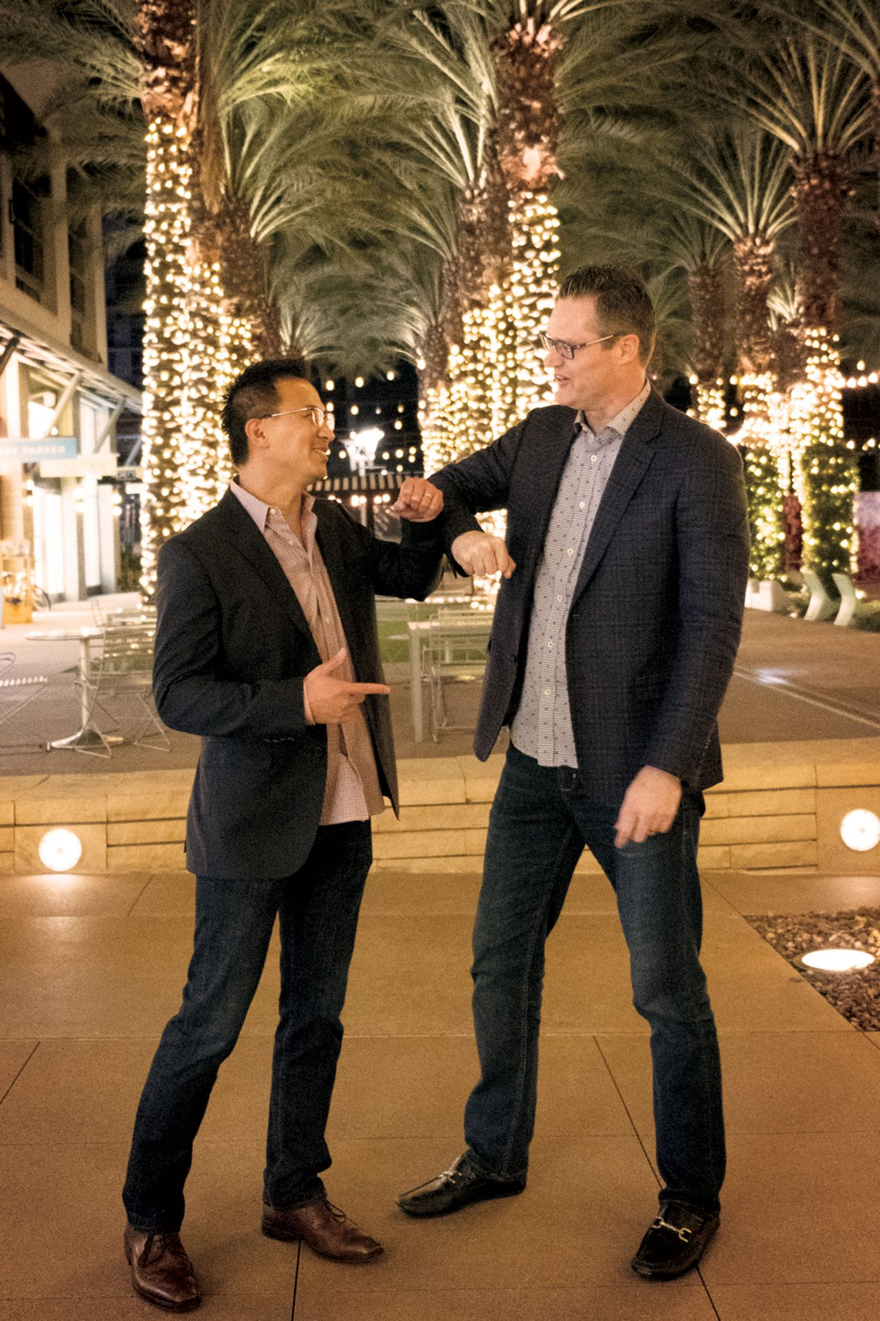 Nguyen (left) and Kearney hang out before a heart-healthy meal at True Food Kitchen in Scottsdale; Photo by Mirelle Inglefield