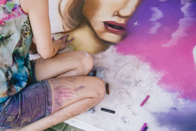 Draw With the Artists at This Live Chalk Art Event