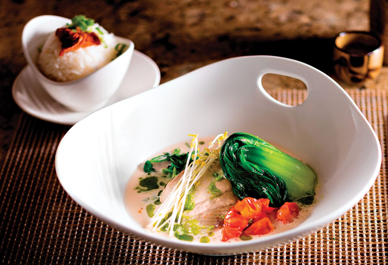 lemongrass-coconut sea bass at Ko at the Fairmont Kea Lani; Photo courtesy Ko/Fairmont Kea Lani