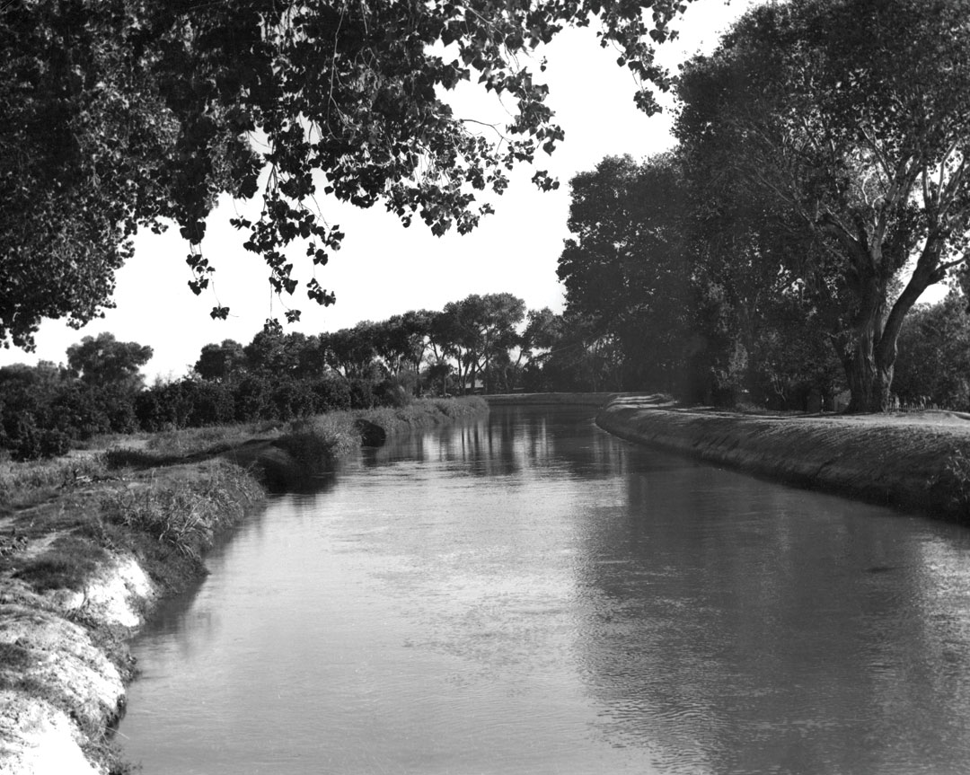 The Arizona Canal north of Phoenix where his body was found; Photo courtesy Salt River Project Research Archives & Heritage