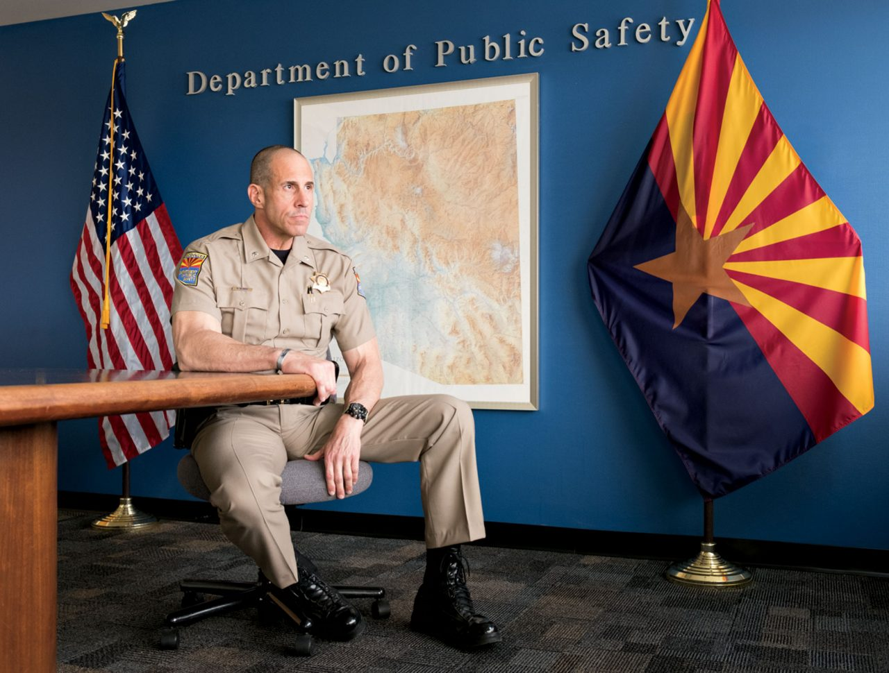 Silbert at Arizona Department of Public Safety in Phoenix; Photo by Mirelle Inglefield