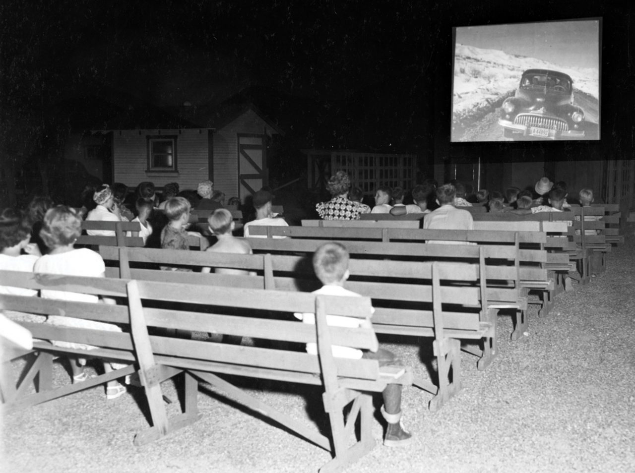 A Friday night movie at the Desert Mission, 1930s; Photo courtesy Sunnyslope Historical Society