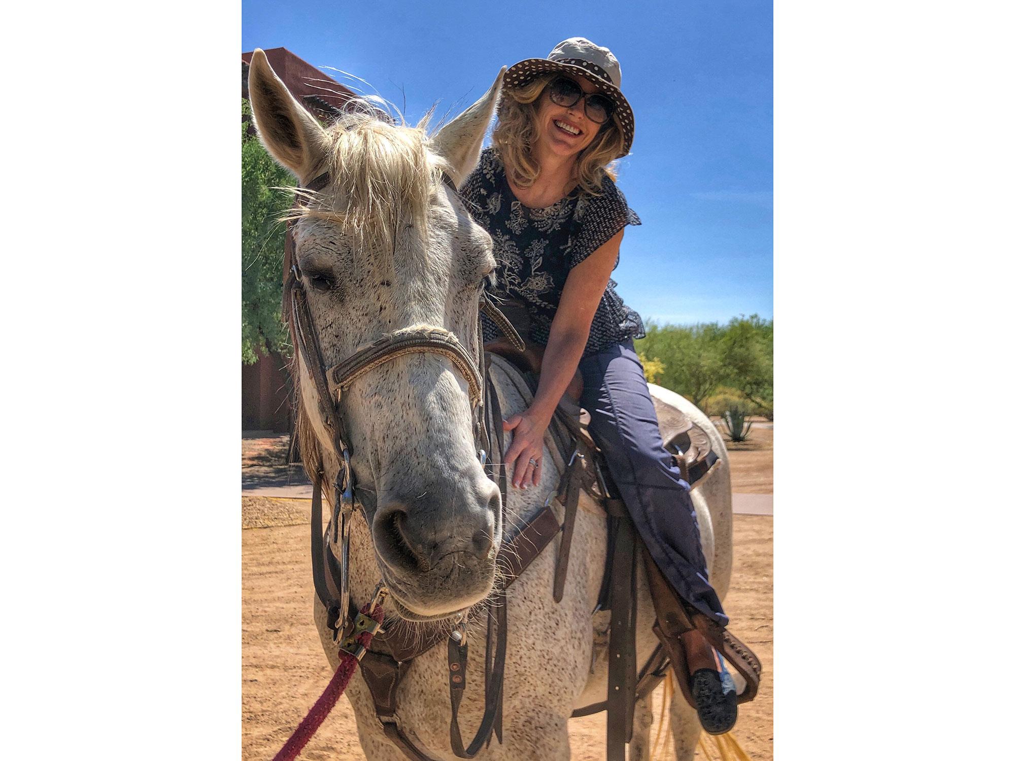 "Tara and her horse ""Bubba"""