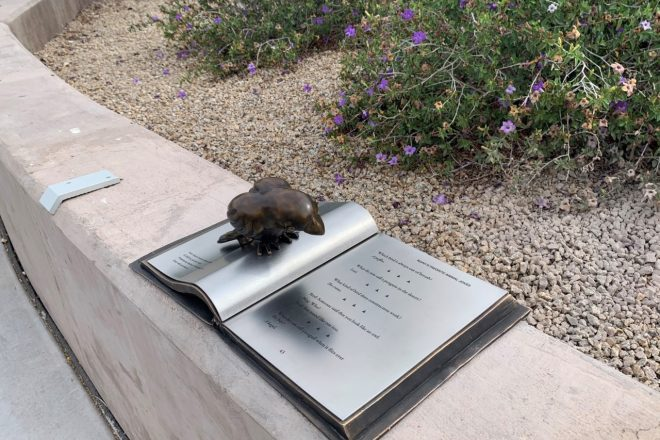 Bronze Birds, Books and Mass Transit Share Space in North Scottsdale