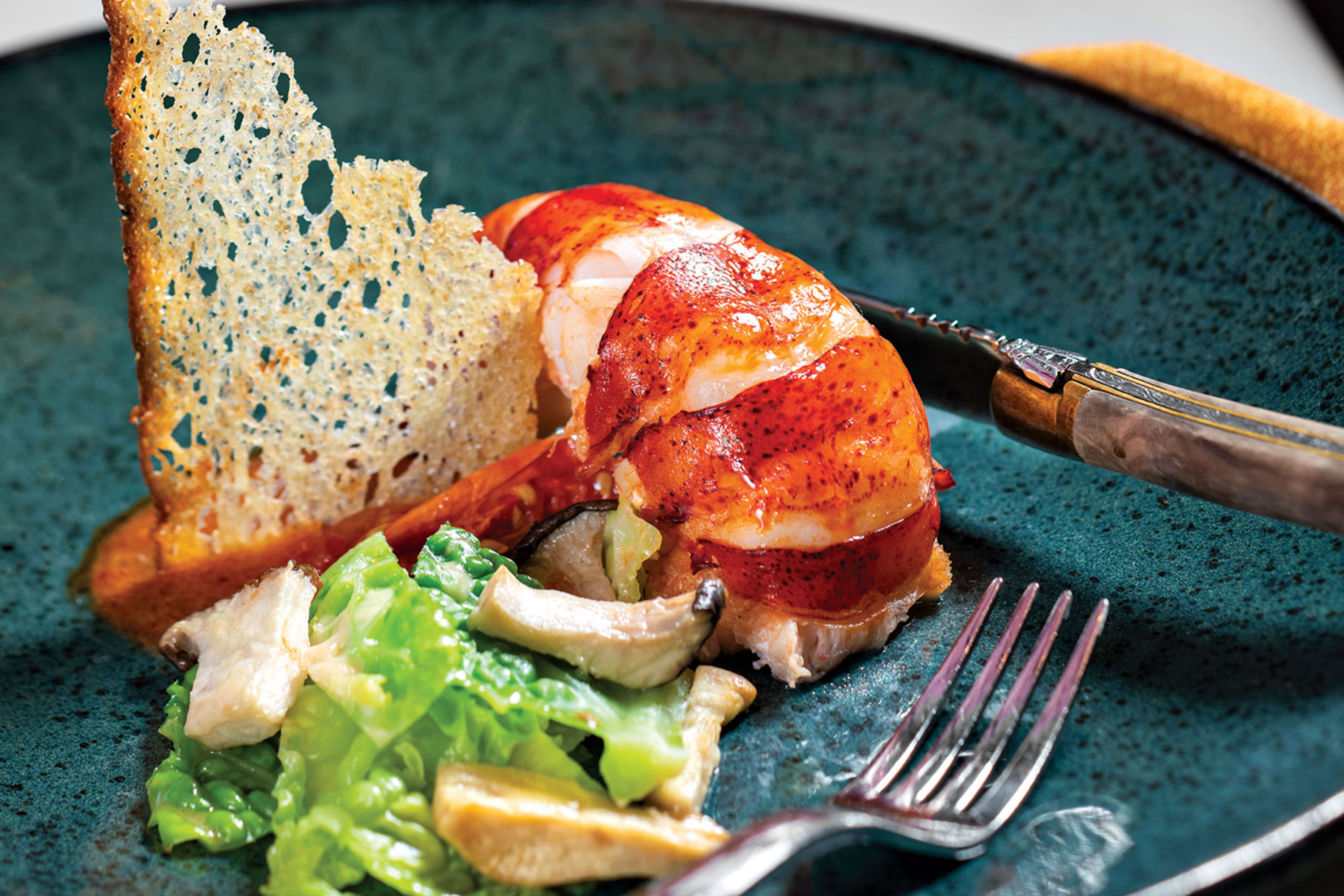 Butter-poached lobster tail