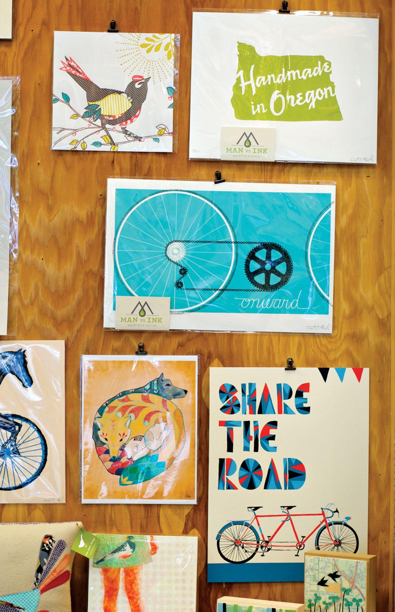 Handmade greeting cards by Portland makers; Photo by Torsten Kjellstrand