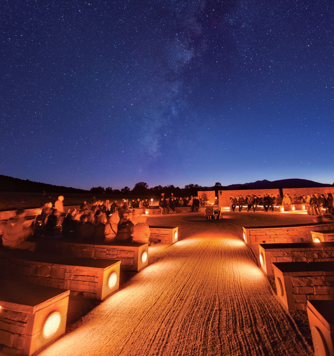 The Milky Way shines at McDonald Observatory; Photo by Ethan Tweedie Photography