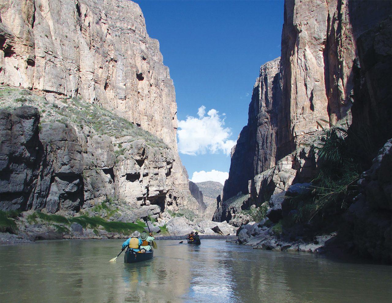 Canoeing Mariscal Canyon in Big Bend National Park; Photo courtesy NPS Photo/Jennette Jurado