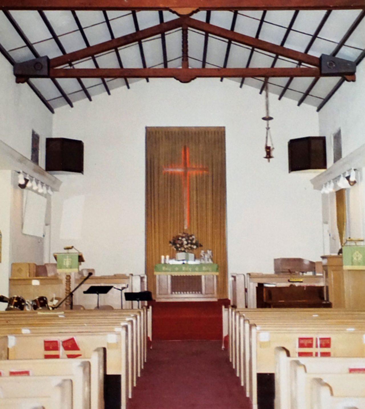 interior of Bethel United Methodist Church, 1990s; Photo courtesy Taco Guild