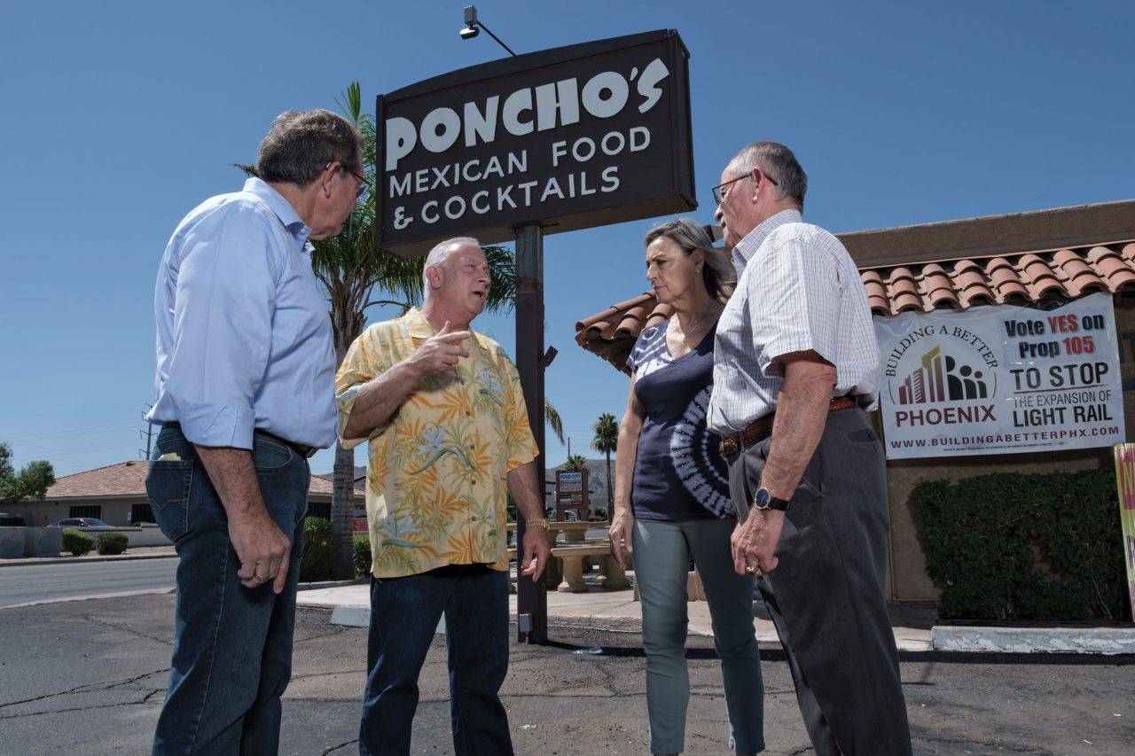 Business owners meet near affected Poncho's restaurant
